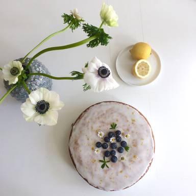 柠檬蓝莓蛋糕
