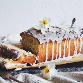 Zitronen-Lavendel-Joghurt-Kuchen