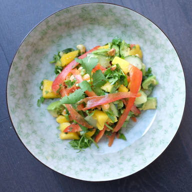 Fresh avocado and mango salad