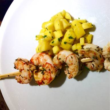 Marinierte Garnelen mit Mango-Salsa