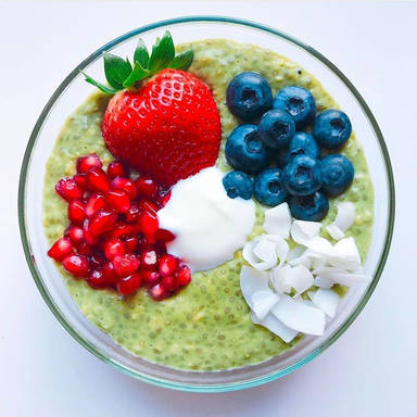Matcha breakfast bowl