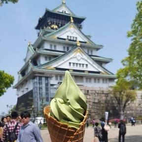 Matcha ice cream in Japan