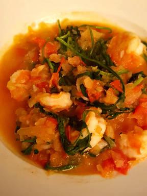 地中海大虾佐番茄酱