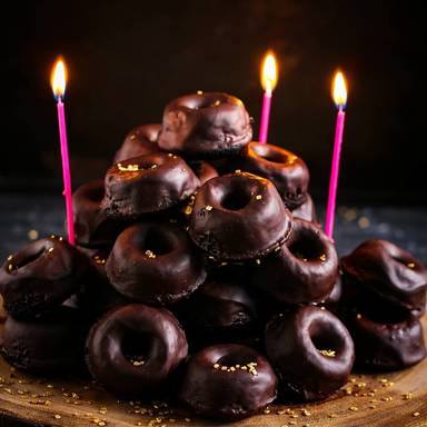 Mini chocolate bundt cakes