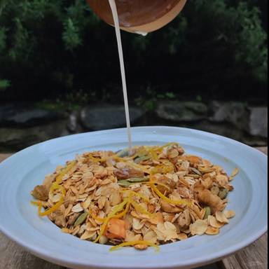 橙子格拉诺拉麦片