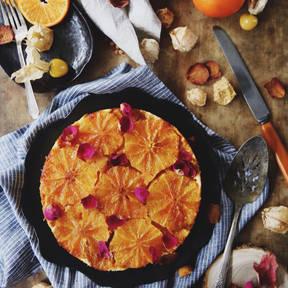 Gestürzter Orangenkuchen