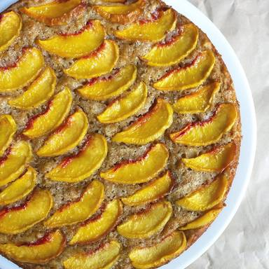 Peach banana breakfast cake