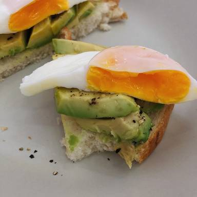 Poached eggs on avocado toast