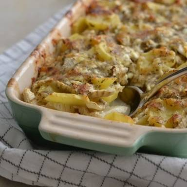 Potato and fennel casserole