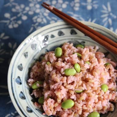 Reis mit Garnelen und Gemüse