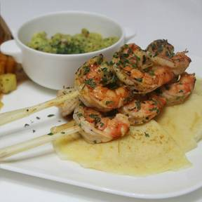 Shrimp with lemongrass