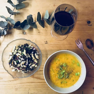 Sweet potato and orange soup