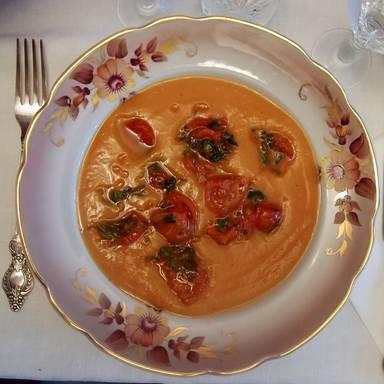 红薯汤配辣椒番茄